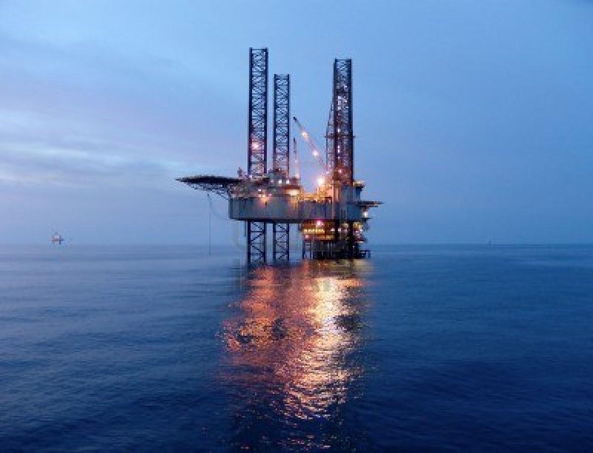 Fondo de pantalla de la plataforma petrolera